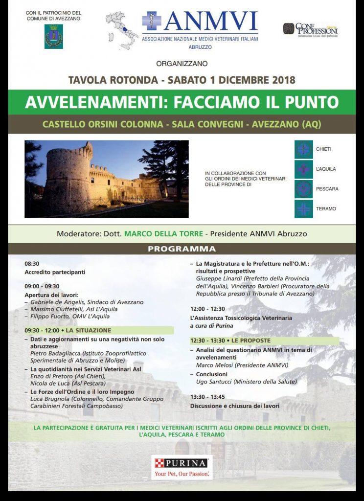 """"""" Avvelenamenti: Facciamo il punto """" al Castello Orsini"""