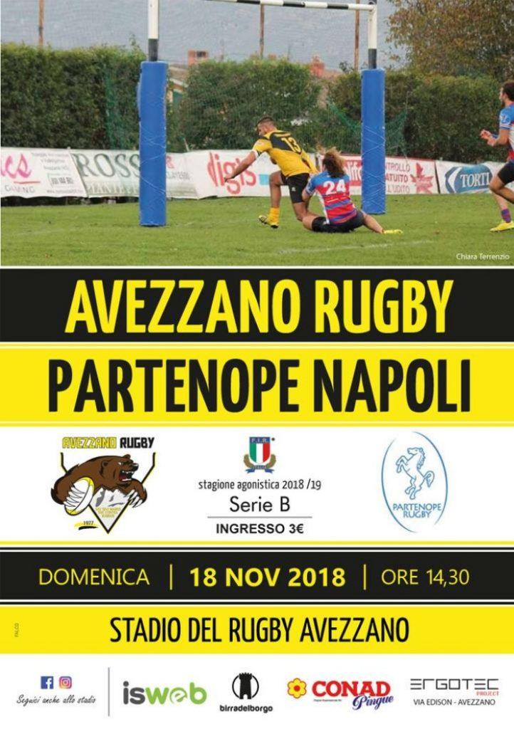 Rugby: l'Avezzano a caccia del terzo risultato utile, domenica in casa contro Napoli
