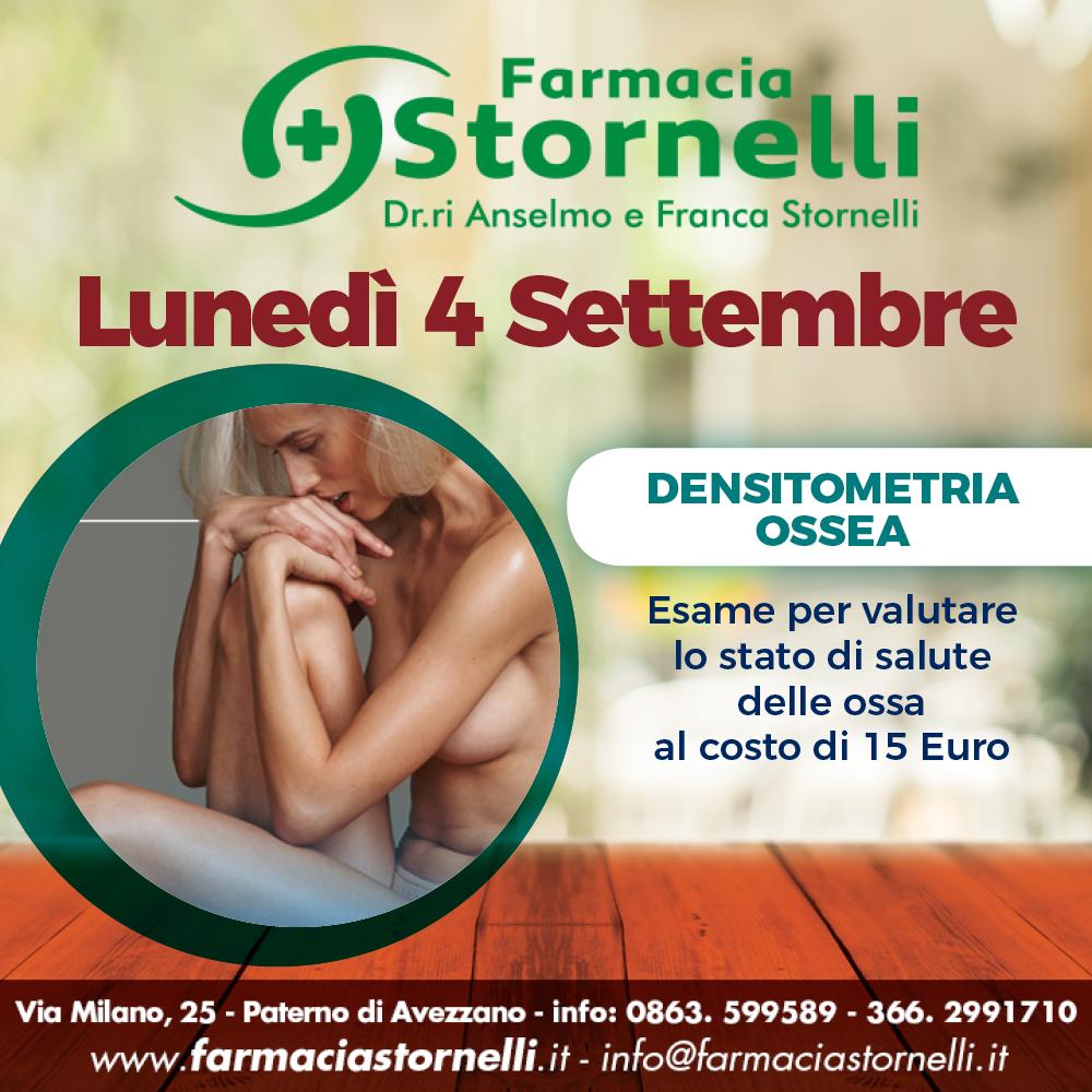 Lunedì 4 Settembre prenota l'esame Moc presso la Farmacia Stornelli