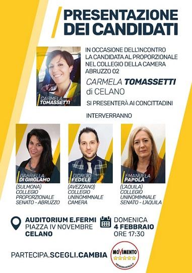 Presentazione dei candidati Carmela Tomassetti (Celano)
