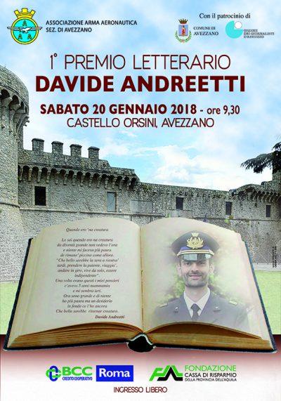 """Conferenza stampa presentazione prima edizione del Premio letterario """"Davide Andreetti"""""""