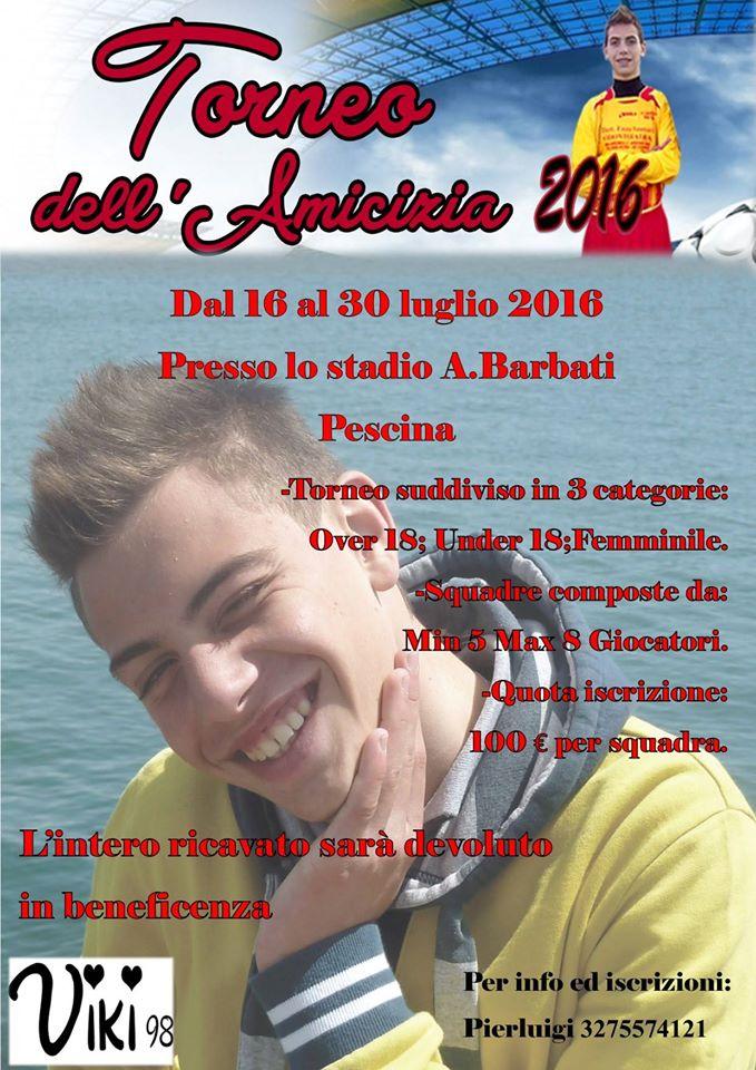 'Torneo dell'Amicizia' in memoria di Vincenzo Zauri