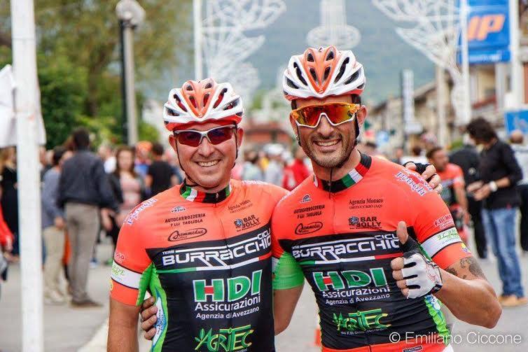 Roberto Fortunato e Massimiliano Scipioni portano in alto il Team Cicli Buracchio