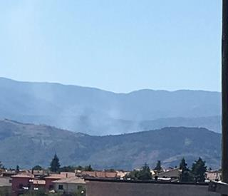 Vasto incendio a Corcumello