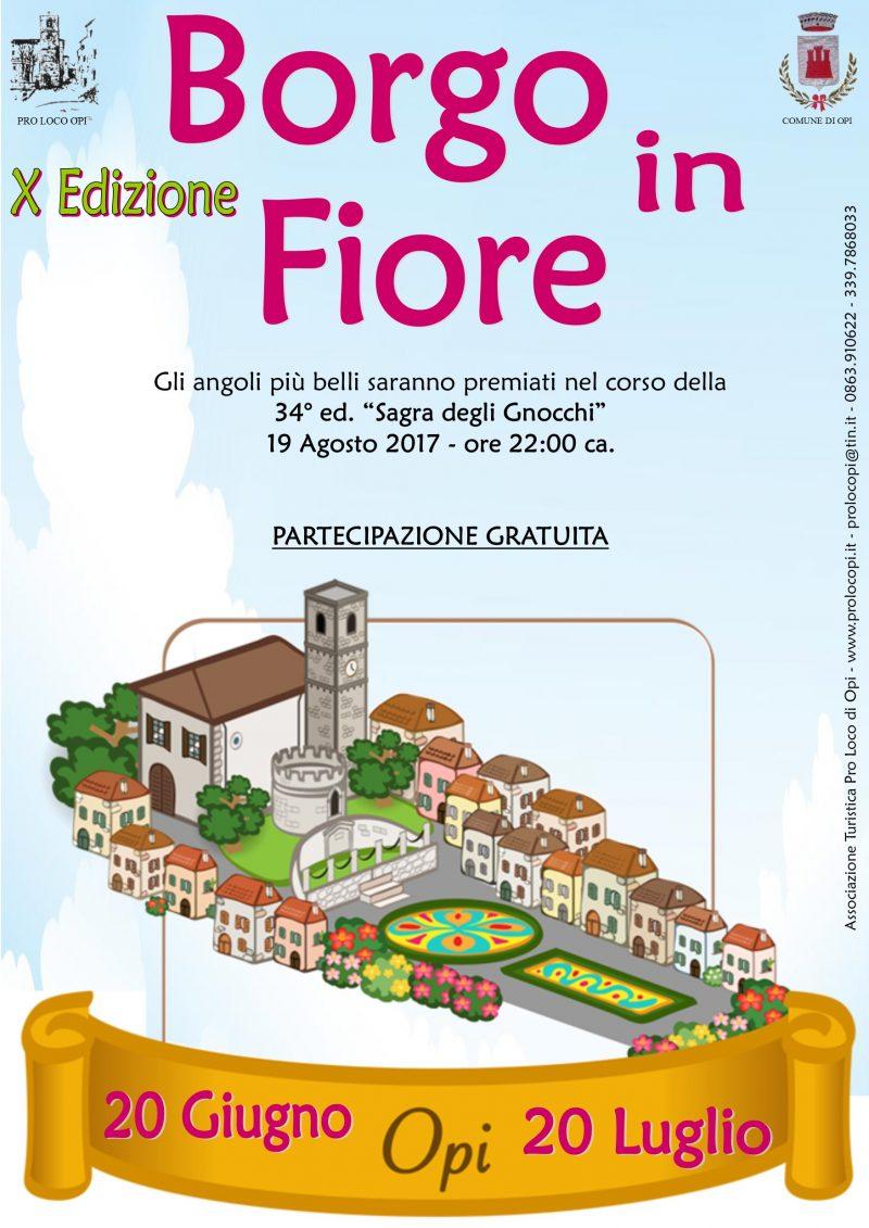 Borgo in fiore – 19 agosto 2017