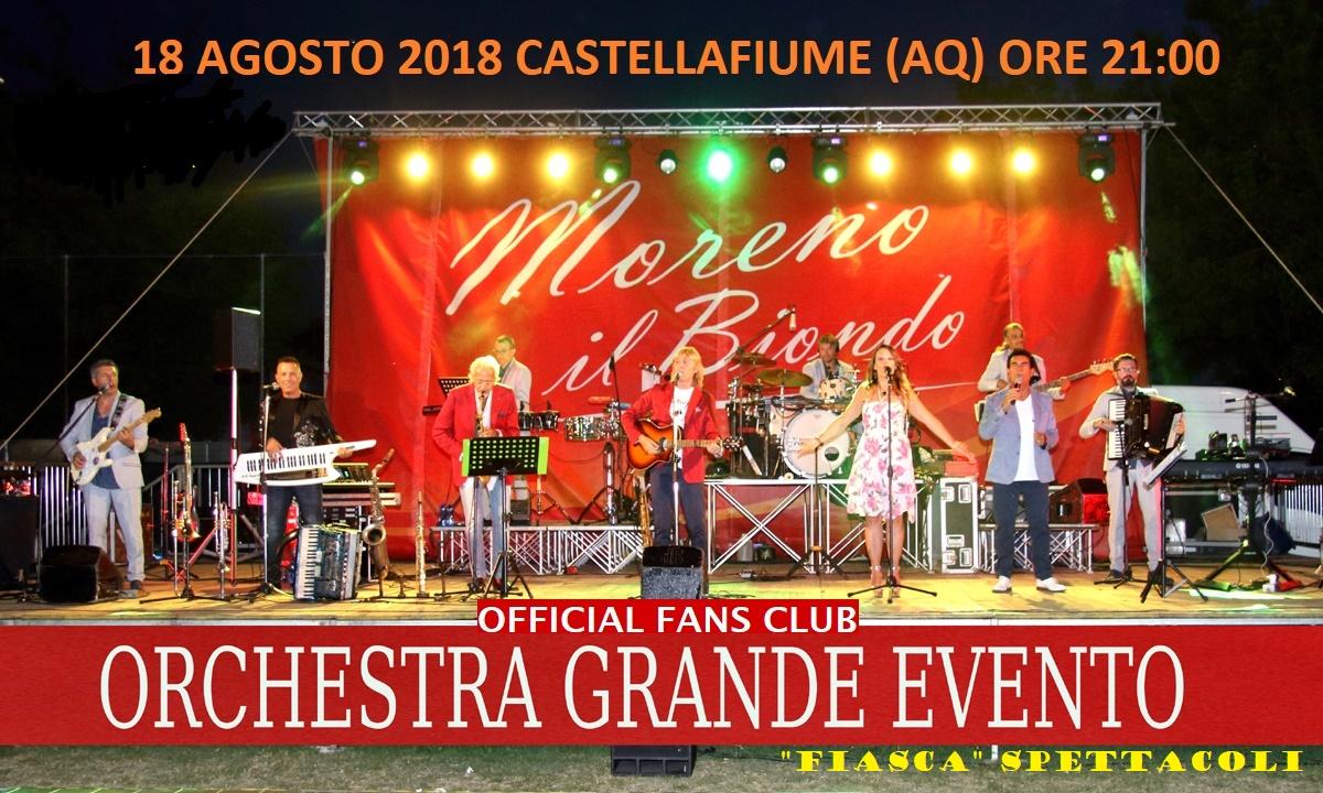 """Serata con l'Orchestra Romagnola """"Grande Evento"""" a Castellafiume"""