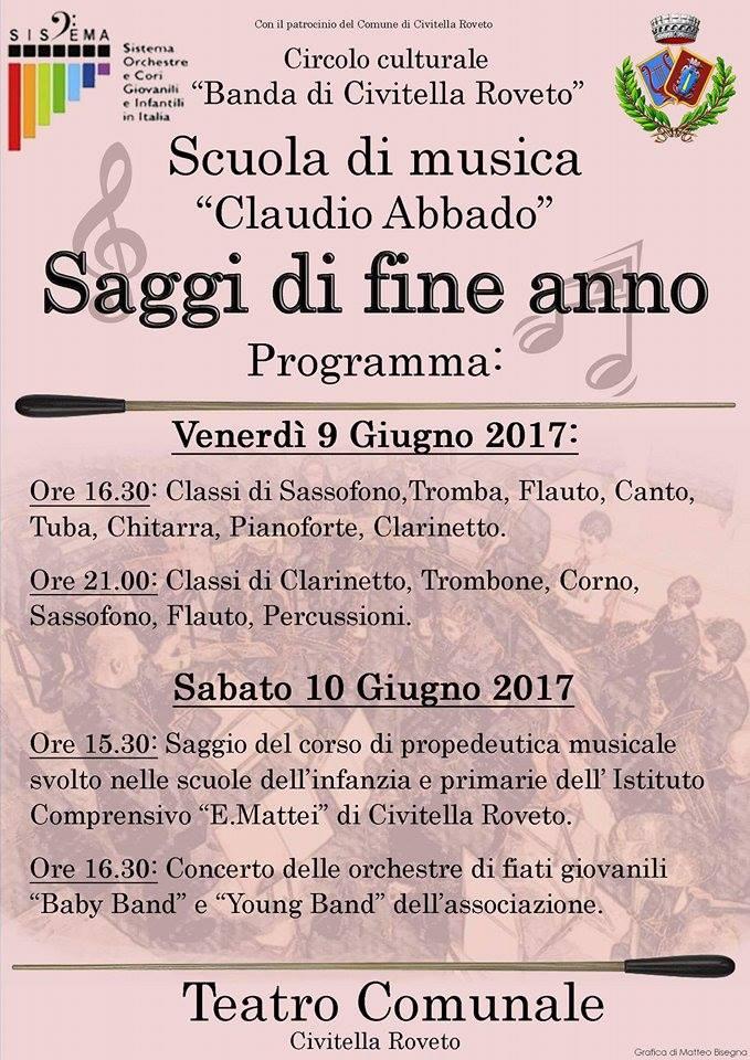 """Fine settimana in musica a Civitella Roveto. Saggio della scuola di musica """"Claudio Abbado"""""""