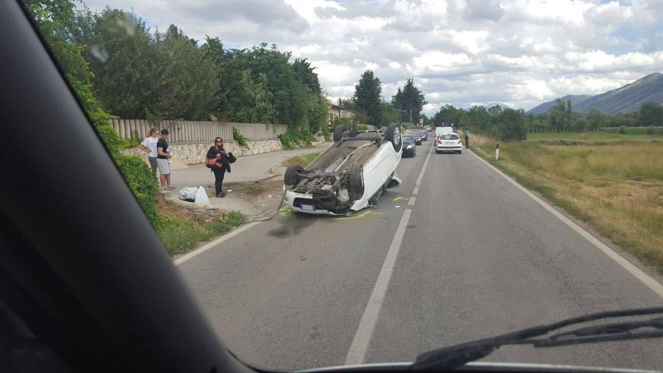 Incidente stradale a Tagliacozzo