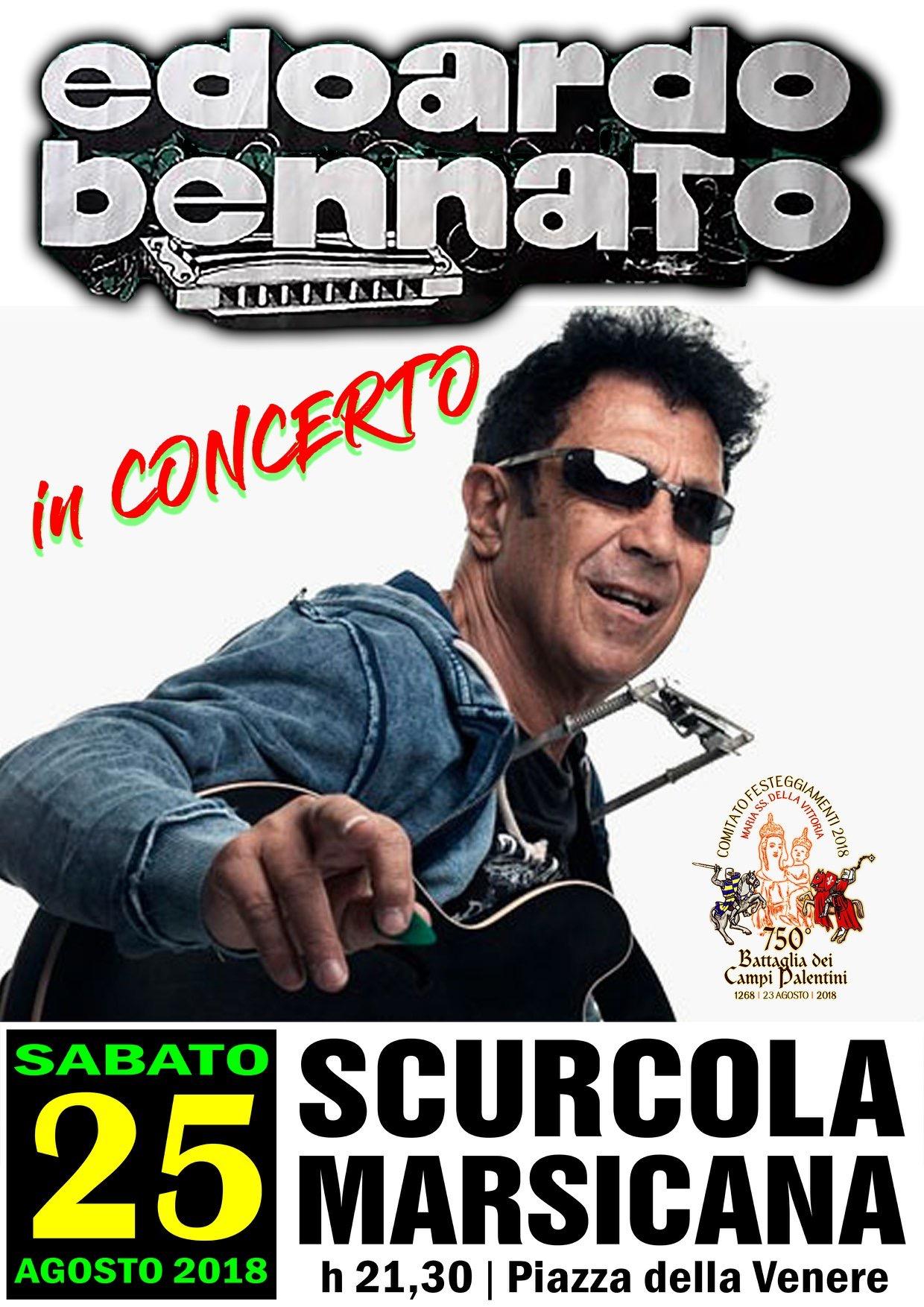 Edoardo Bennato in concerto a Scurcola Marsicana