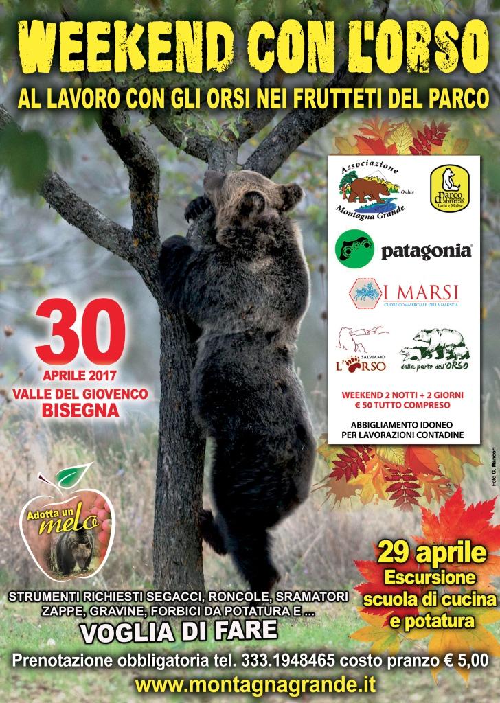 """""""Un weekend con l'orso"""" nella Valle del Giovenco. Ecco il programma"""