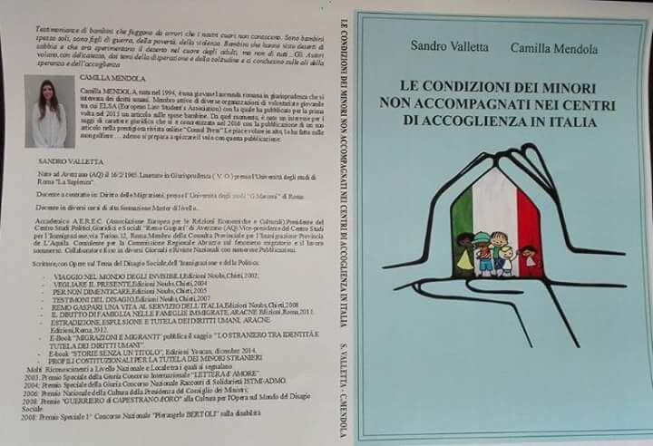 """""""Le condizioni dei minori nei centri d'accoglienza"""", il nuovo libro di Sandro Valletta e Camilla Mendola"""