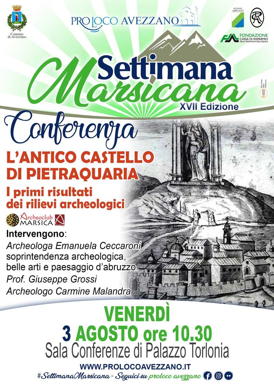 """Convegno """"L'antico castello di Pietraquaria"""""""