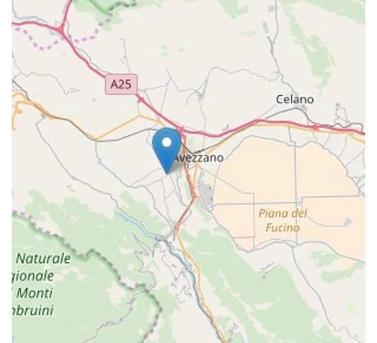 Lieve scossa ad Avezzano