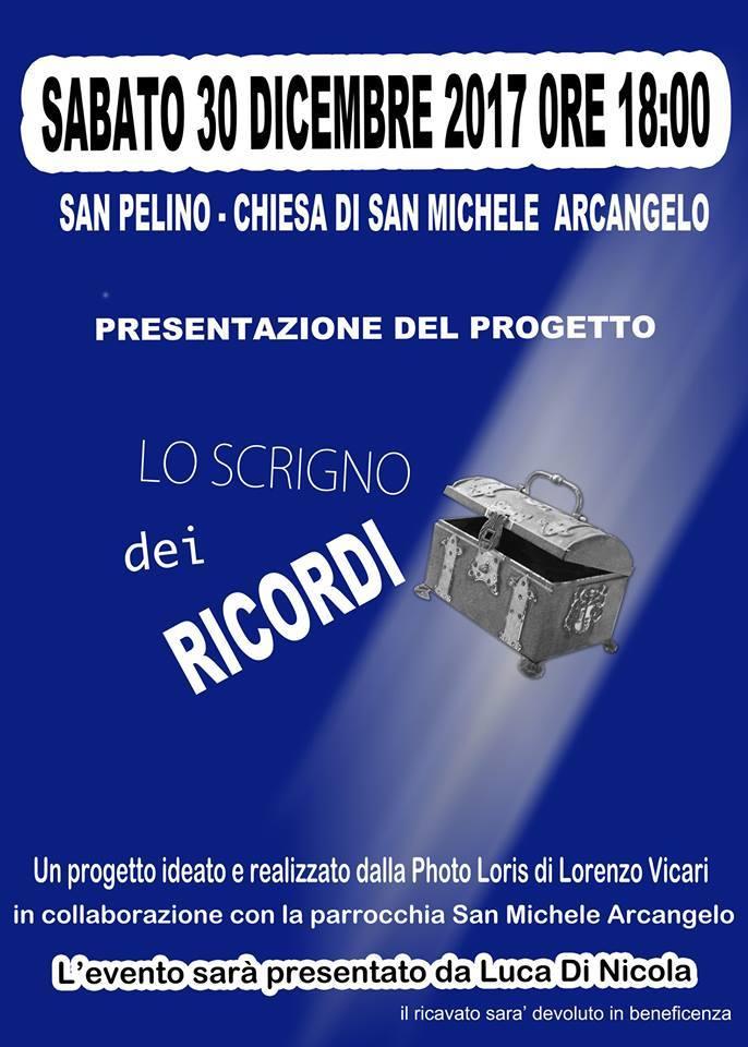"""Al via """"Lo scrigno dei ricordi"""" iniziativa commemorativa e di beneficenza nel ricordo di Luca Bielli, Antonio Fracassi e Vanni Frigioni di San Pelino"""