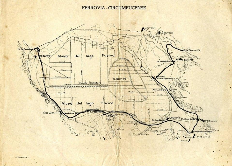 FERROVIA CIRCONFUCENSE: STAZIONI FERROVIARIE DI LUCO DEI MARSI, TRASACCO, ORTUCCHIO E…