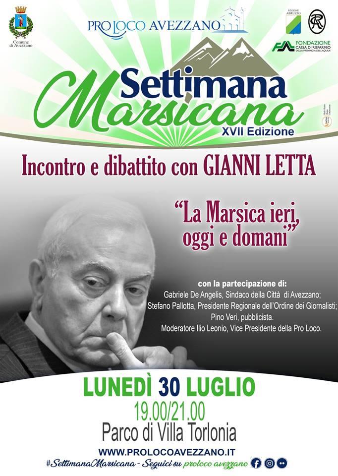 Incontro e dibattito con Gianni Letta