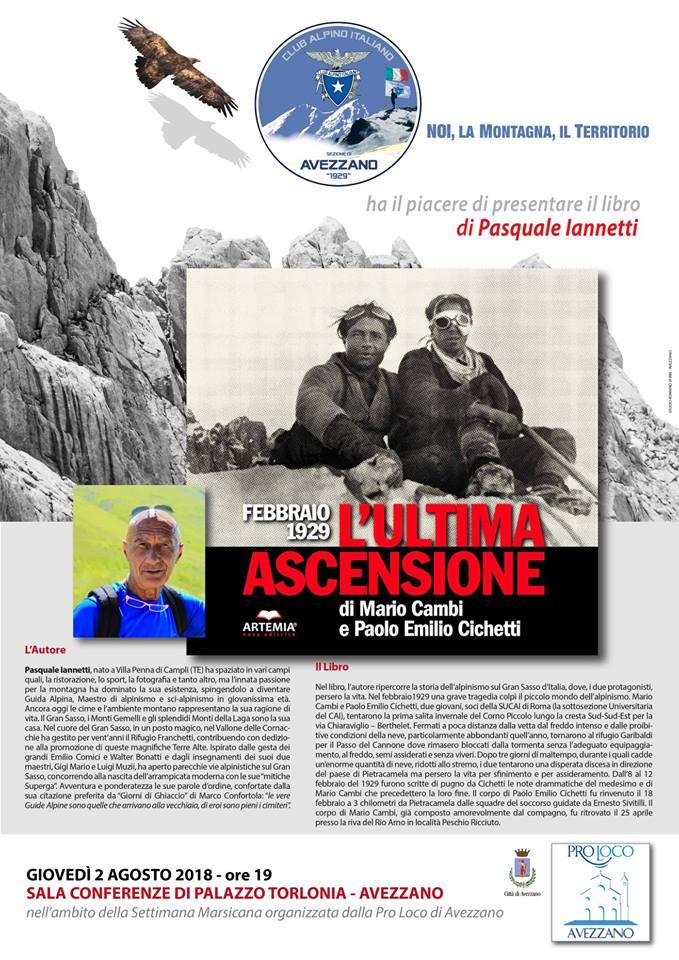 La storia delle nostre grandi montagne attraverso il racconto di un alpinista-scrittore abruzzese: Pasquale Iannetti