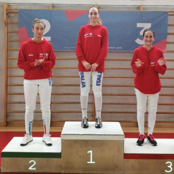 Sofia Santucci, per la prima volta l'Abruzzo è medaglia d'oro nella scherma in una competizione prestigiosa come il Trofeo Coni
