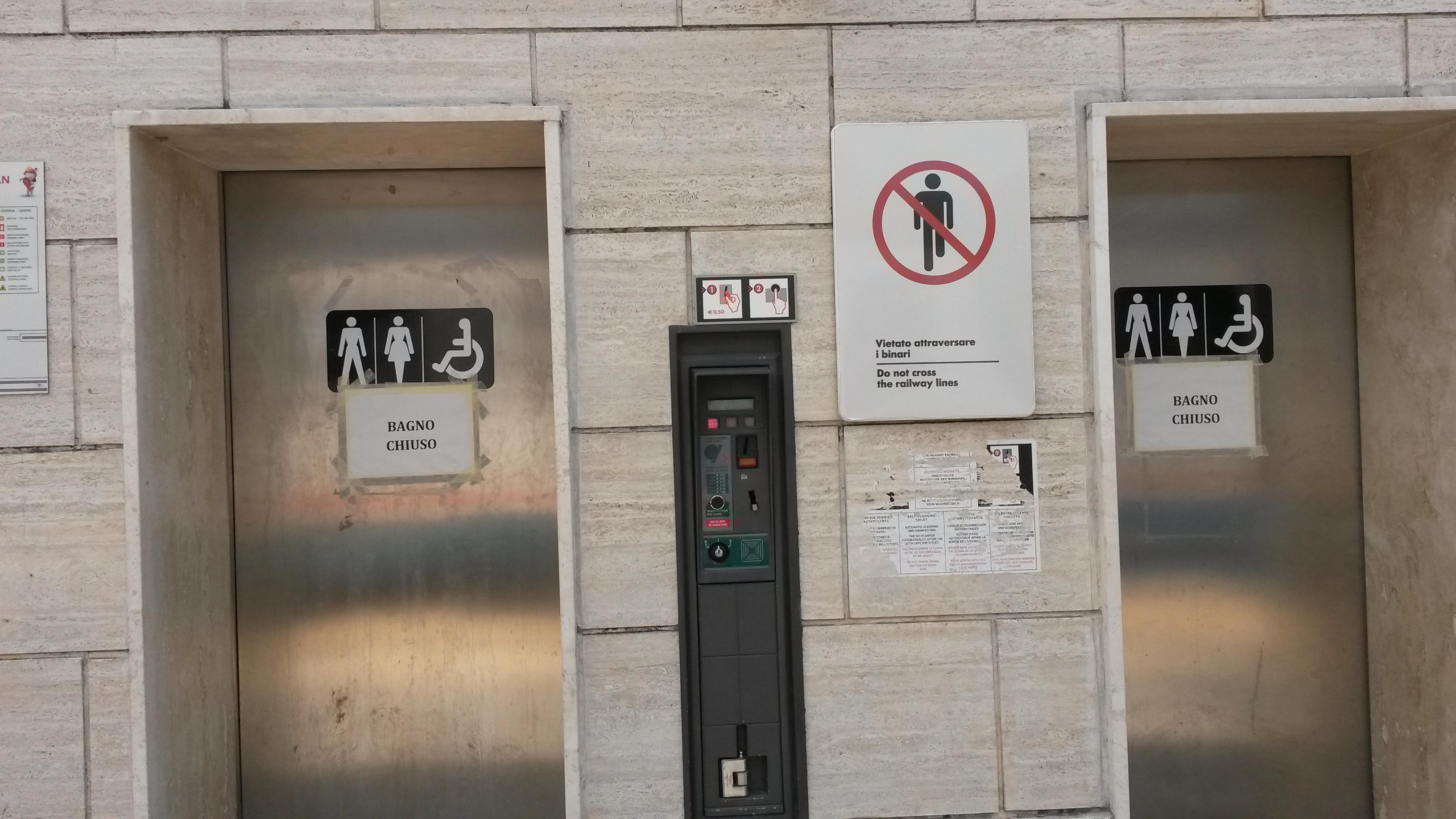 """Avezzano, bagni pubblici chiusi alla stazione. Di Bastiano: """"Non ho parole"""""""
