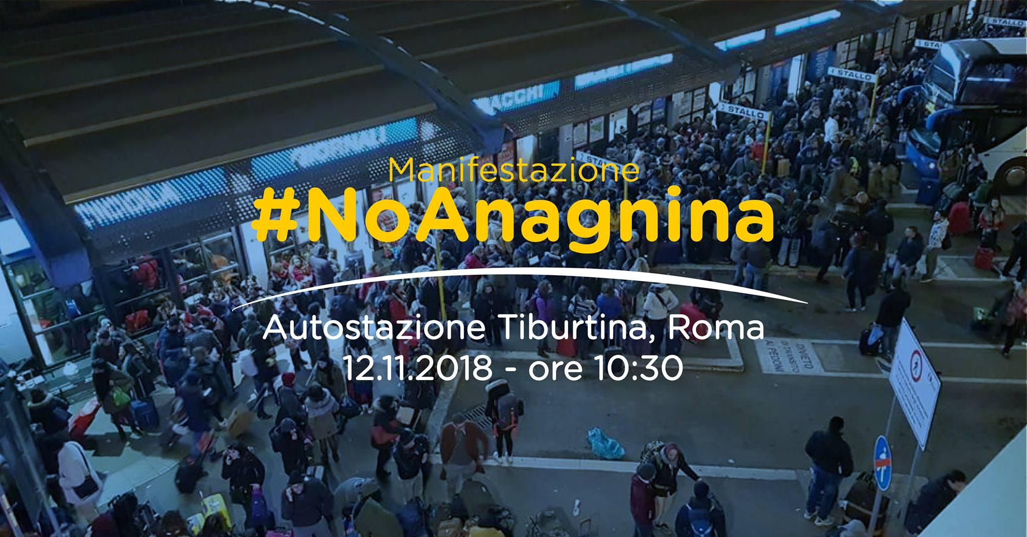 No allo spostamento dei bus da Tiburtina ad Anagnina, lunedì manifestazione di protesta a Roma