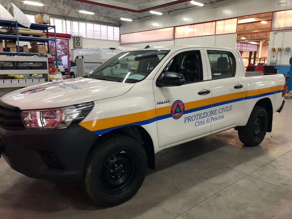 Il comune di Pescina acquista un nuovo mezzo per il servizio di protezione civile dotato di un modulo antincendio boschivo