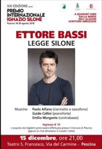 Presentato ufficialmente il programma conclusivo della XXI Edizione del Premio Internazionale Ignazio Silone