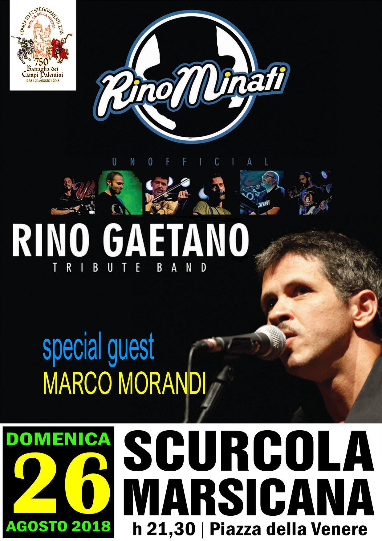 """La """"tribute band Rino Gaetano"""" in concerto a Scurcola Marsicana"""