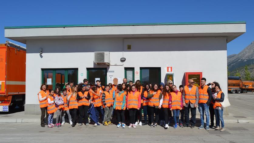 Studenti della Corradini in visita all'impianto di Aielli