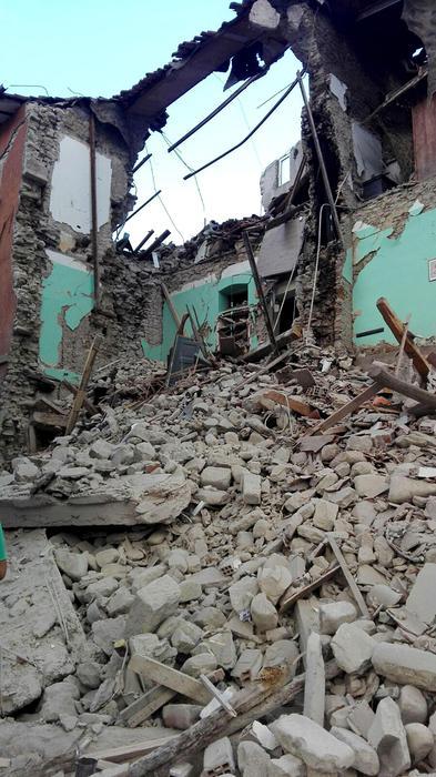 I Volontari della Protezione Civile di Avezzano sui luoghi del disastro