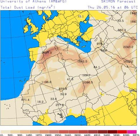 Aria calda e polveri sahariane in arrivo sulla Marsica
