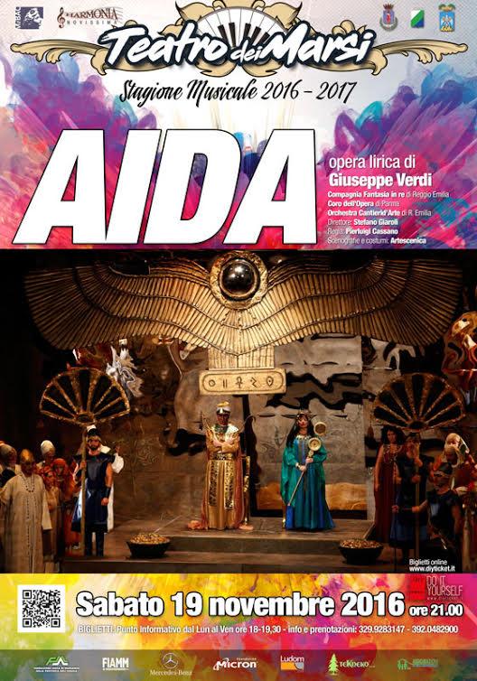 AIDA sabato 19 al Teatro dei Marsi