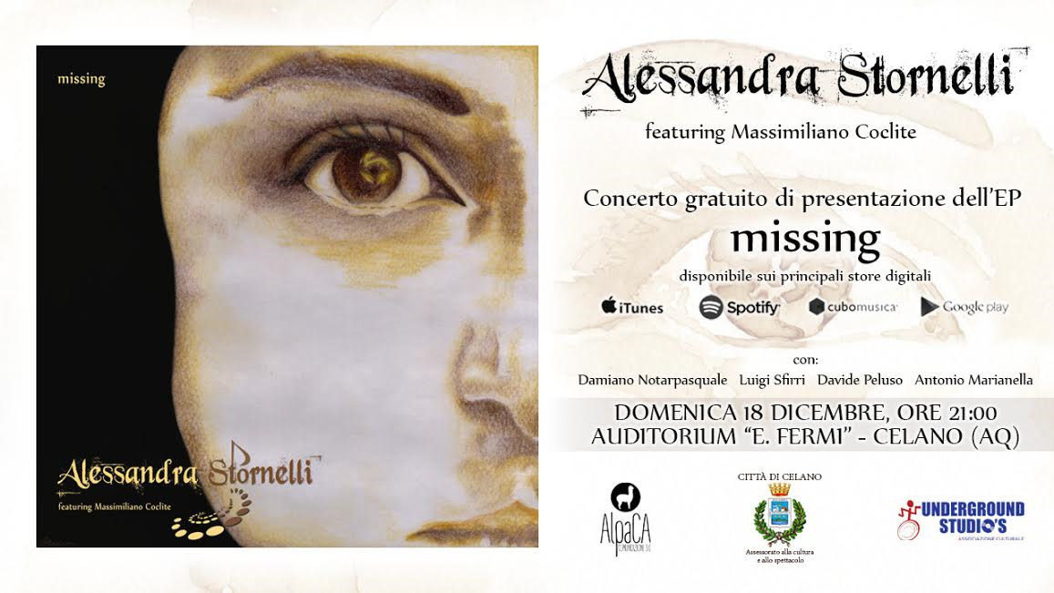 """""""Missing"""", arriva il primo disco di Alessandra Stornelli"""