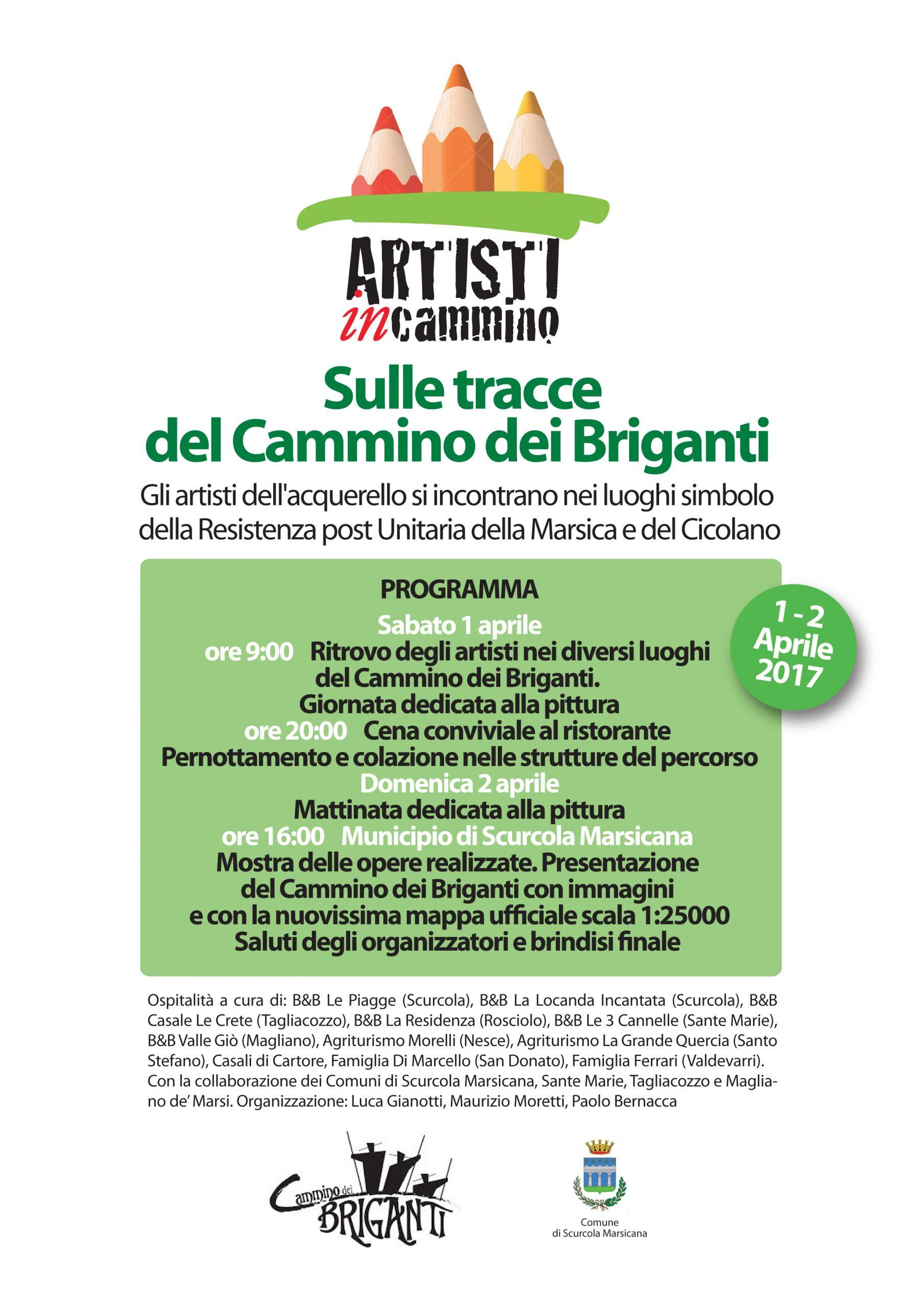 Artisti in Cammino sulle tracce del Cammino dei Briganti