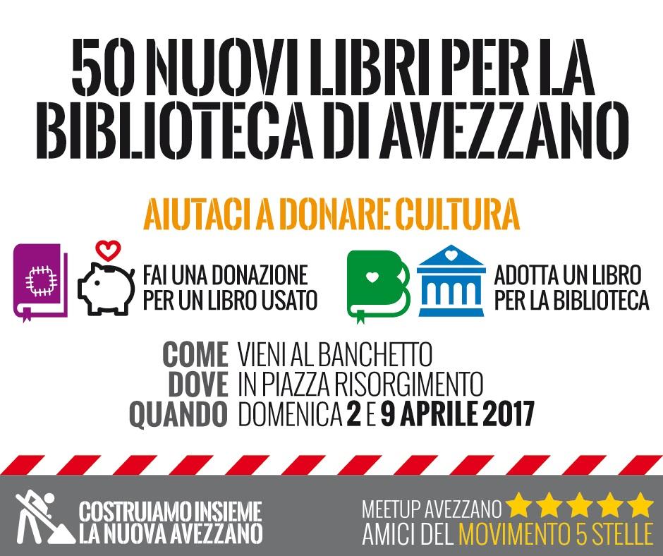 MeetUp Amici del M5S: 50 nuovi libri di bioeconomia per la biblioteca di Avezzano