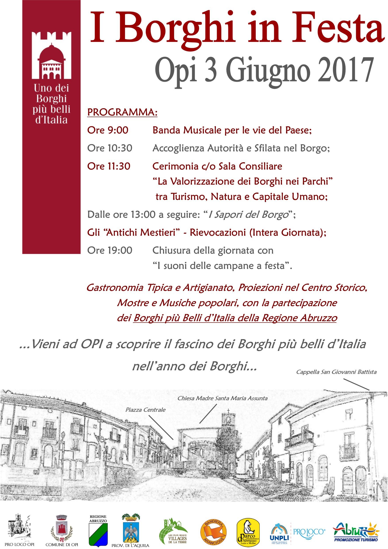 """Opi ospiterà la prima edizione di """"Borghi in festa"""" per riscoprire arte, cultura e tradizioni"""