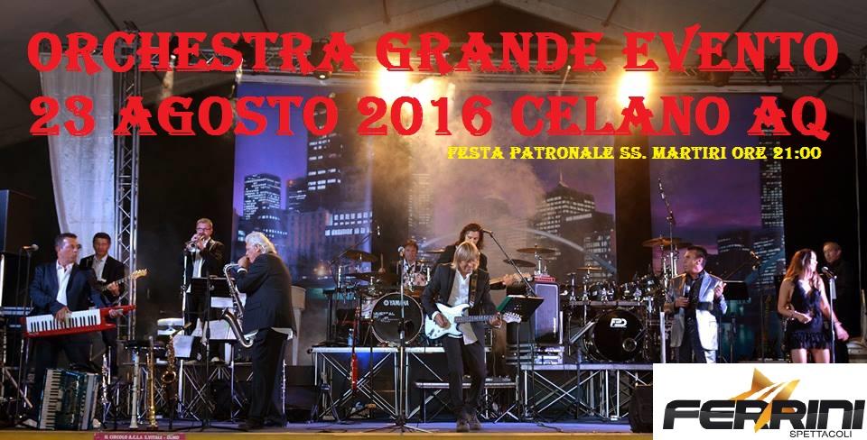 L'orchestra 'Grande Evento' in concerto a Celano
