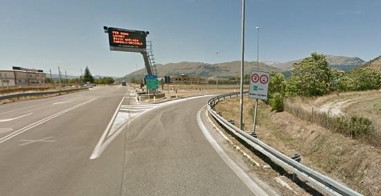Autostrada A25, il 6 ottobre, chiusura dello svincolo di Aielli/Celano