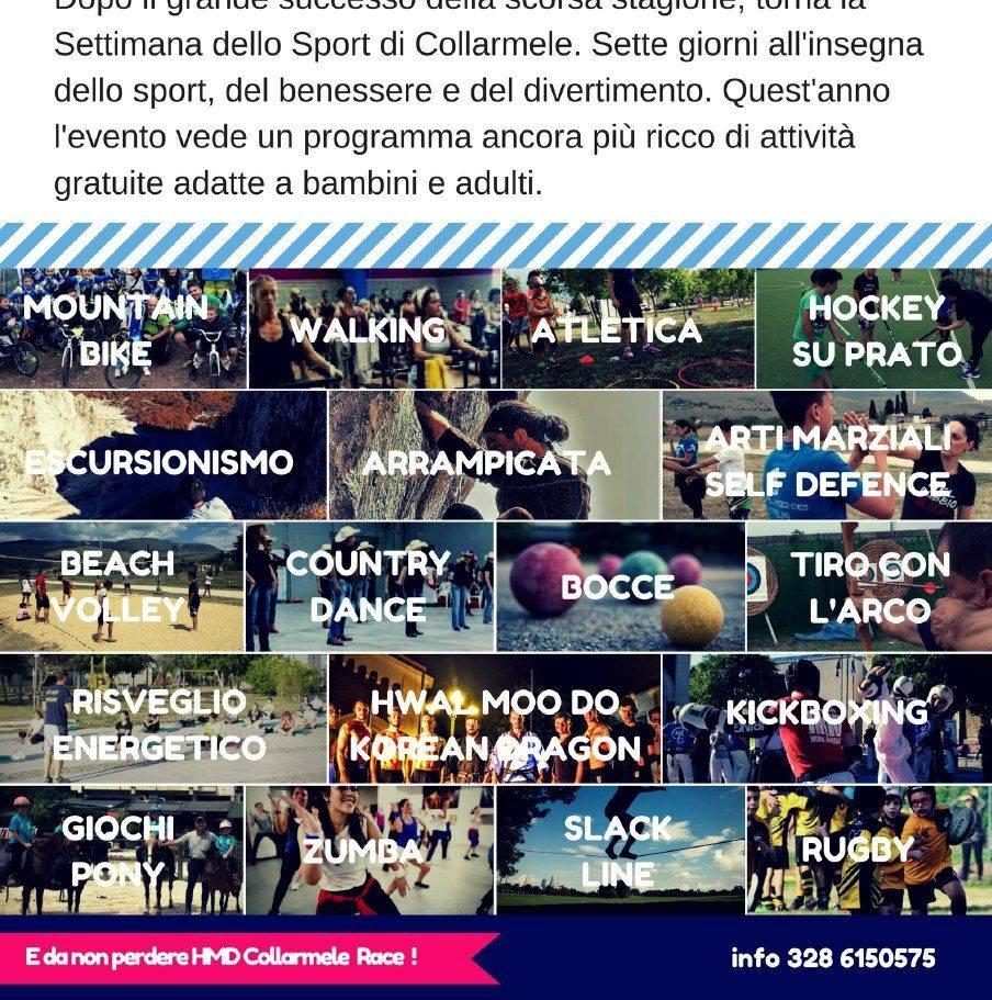 Collarmele, lunedì 17 Luglio parte la seconda edizione della settimana dello sport