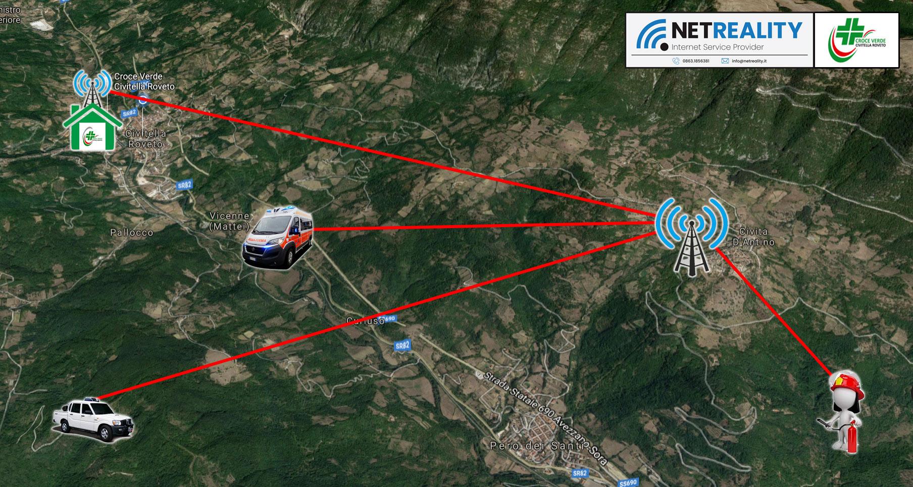 Valle Roveto: la Croce Verde realizza un nuovo sistema radio per le comunicazioni in emergenza