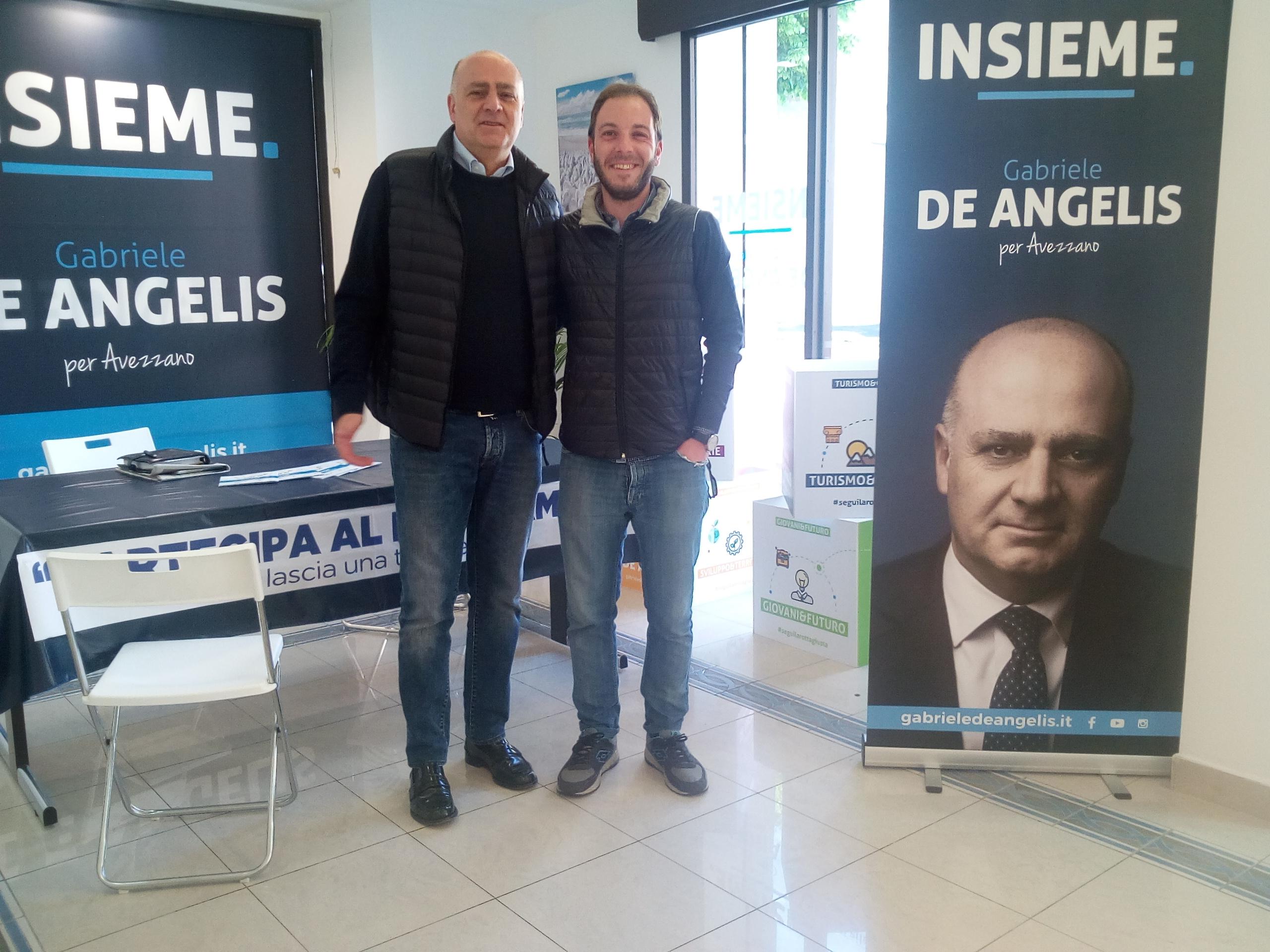 Il giovane imprenditore Angelo Del Rosso a sostegno di Gabriele De Angelis