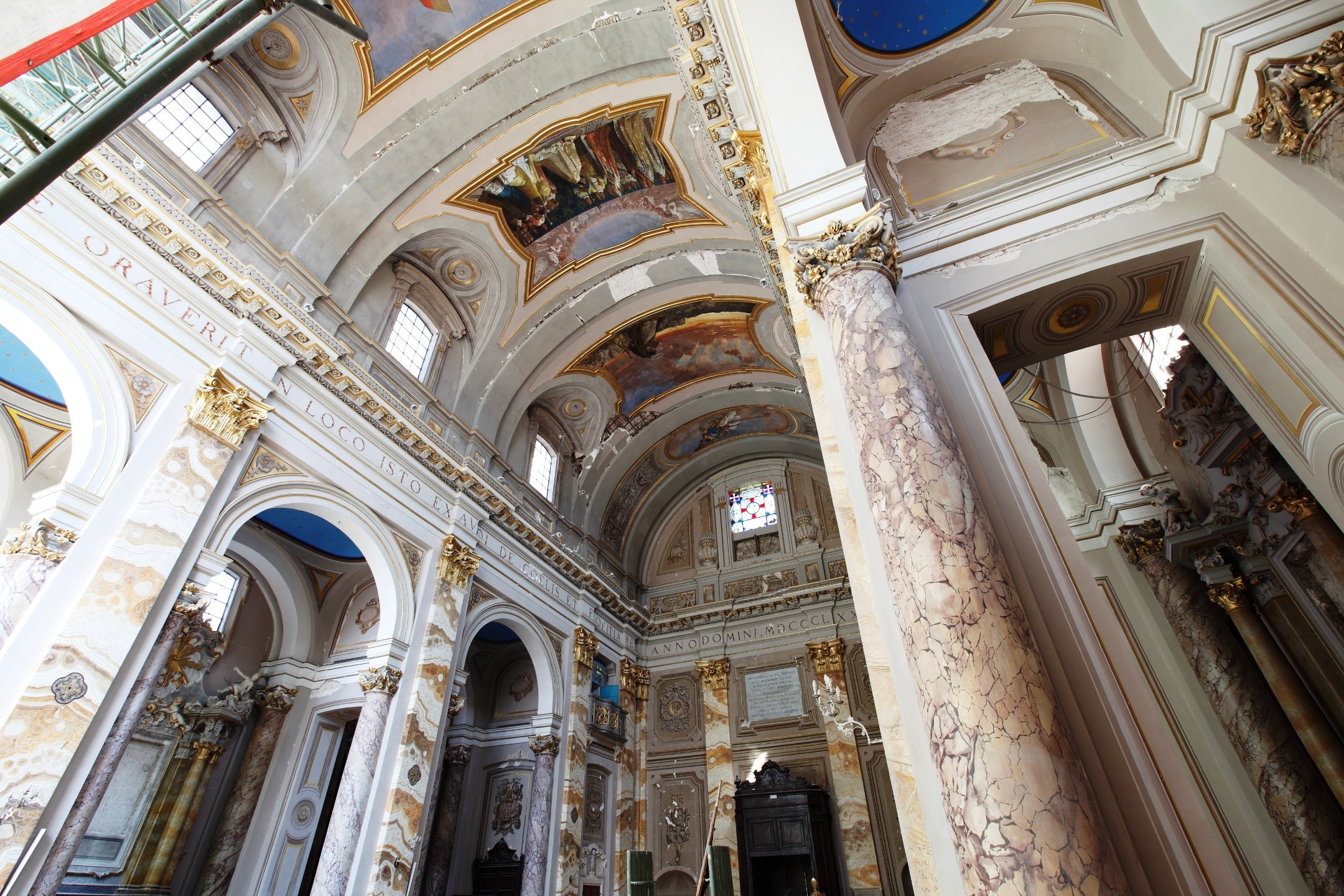 Intervento di messa in sicurezza per la Cattedrale di San Massimo a L'Aquila