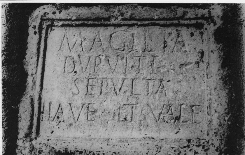 Epigrafe di una donna etrusca a Sardellino