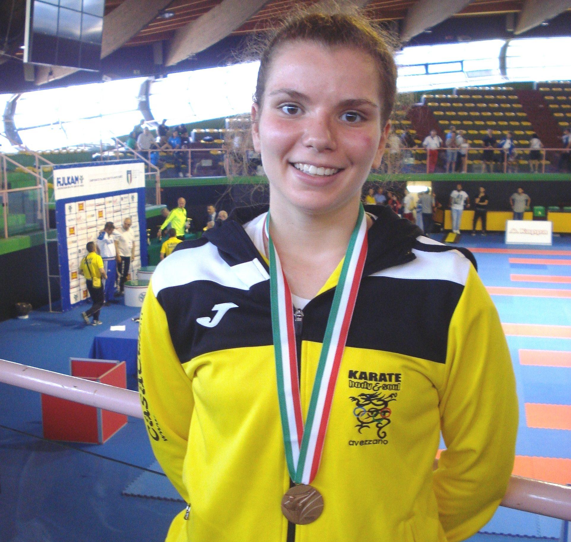 Giada Ciofani conquista la medaglia di bronzo al Campionato Italiano di karate