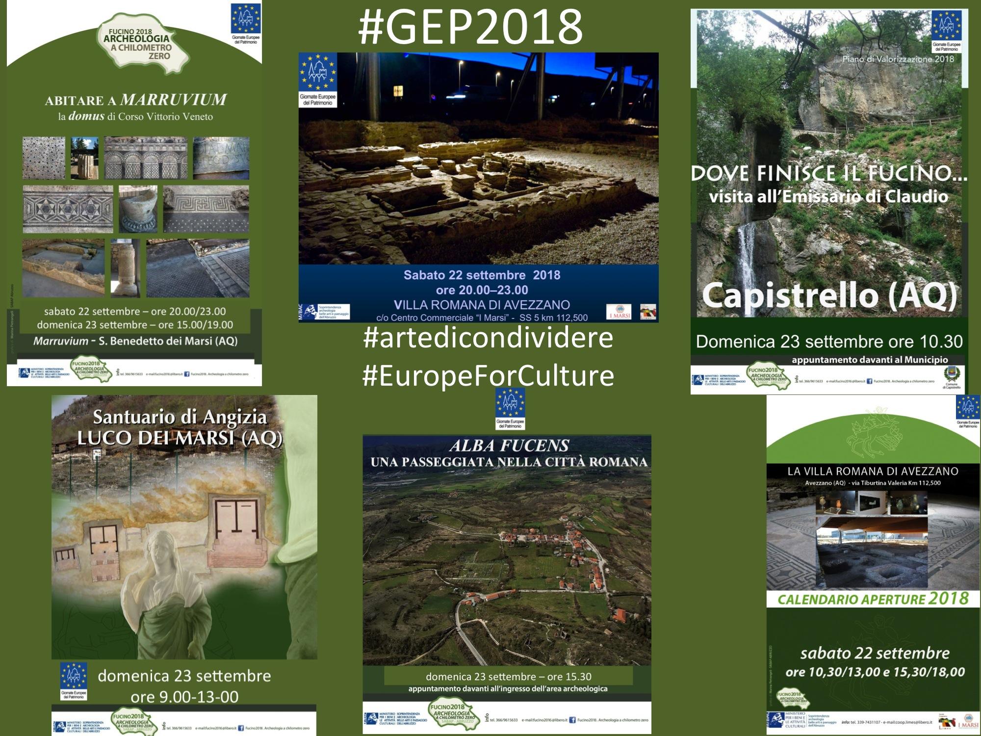 Giornate Europee del Patrimonio, visite ed incontri in vari siti archeologici della Marsica