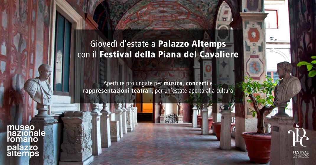 Giovedì d'estate a Palazzo Altemps con il Festival della Piana del Cavaliere