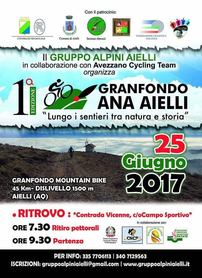 Ricchi premi, pacco gara e ultimi giorni per iscriversi alla Granfondo Mtb Ana Aielli