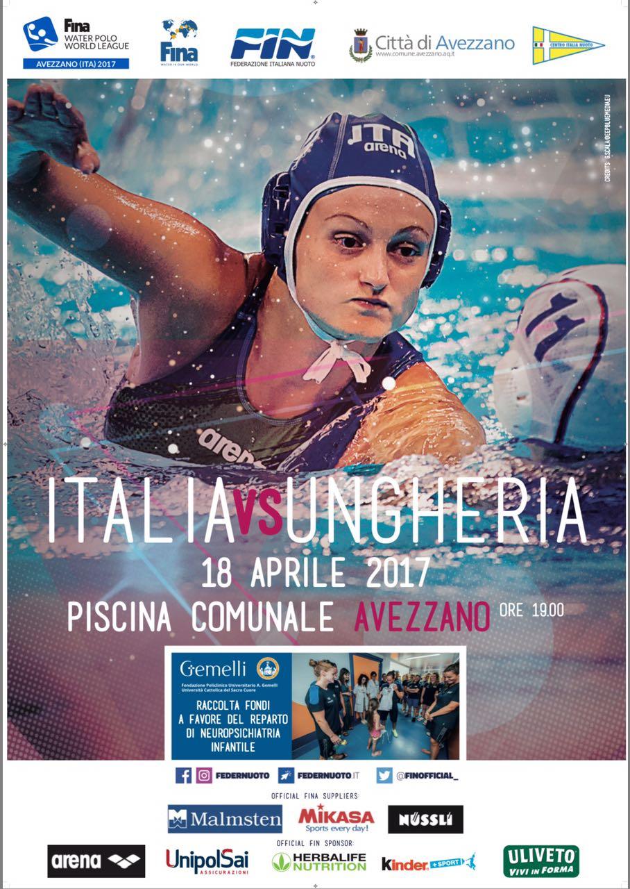 Appuntamento questa sera all'Unipolblustadium di Avezzano per la partita Italia contro Ungheria