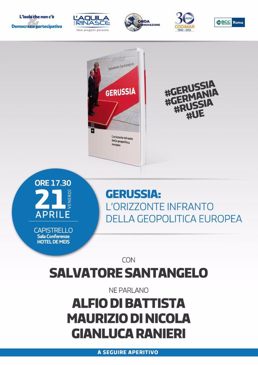Capistrello, Salvatore Santangelo presenta il libro Gerussia