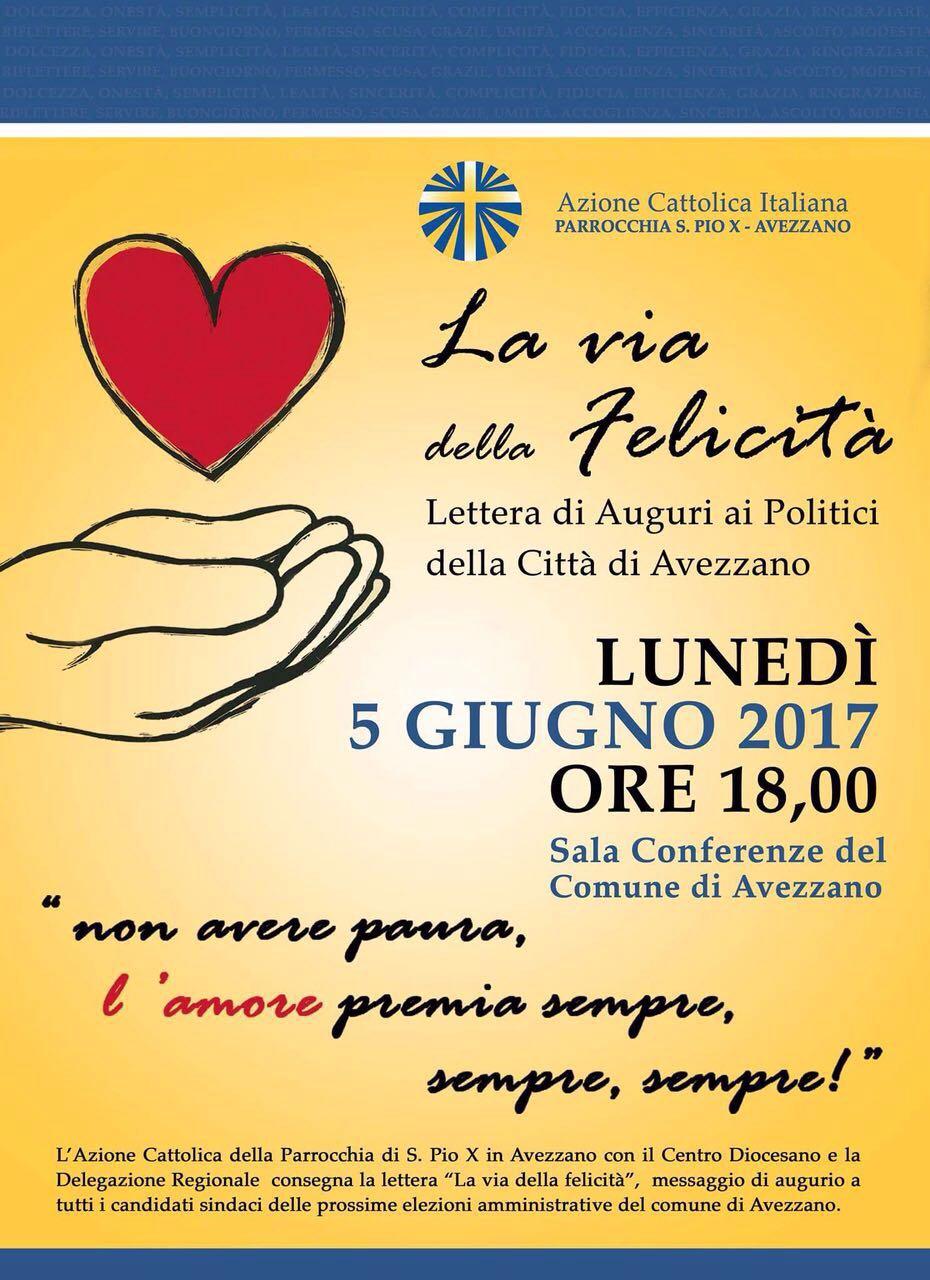 L'Azione Cattolica consegna una lettera di auguri ai politici di Avezzano