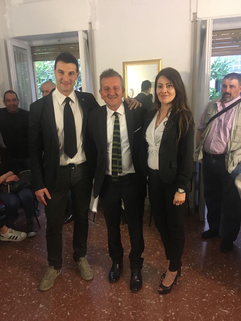 Luca Pollo Poesio e Pamela Amorosi nella lista Avezzano Giovane con Di Pangrazio